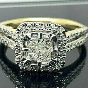 Engagement Ring 1/2ctw Diamond 10k Yellow Gold